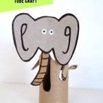 Elephant: Toilet paper roll crafts