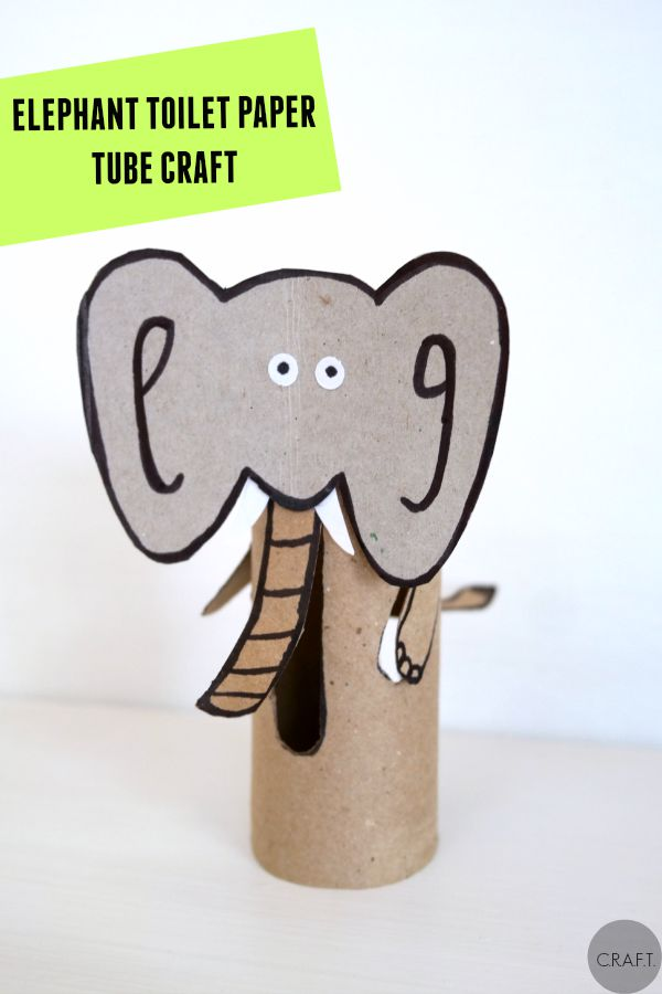 E is for elephant! 26 toilet paper tube crafts for kids