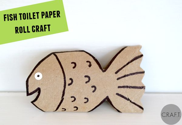 F is for Fish! 26 toilet paper tube crafts for kids