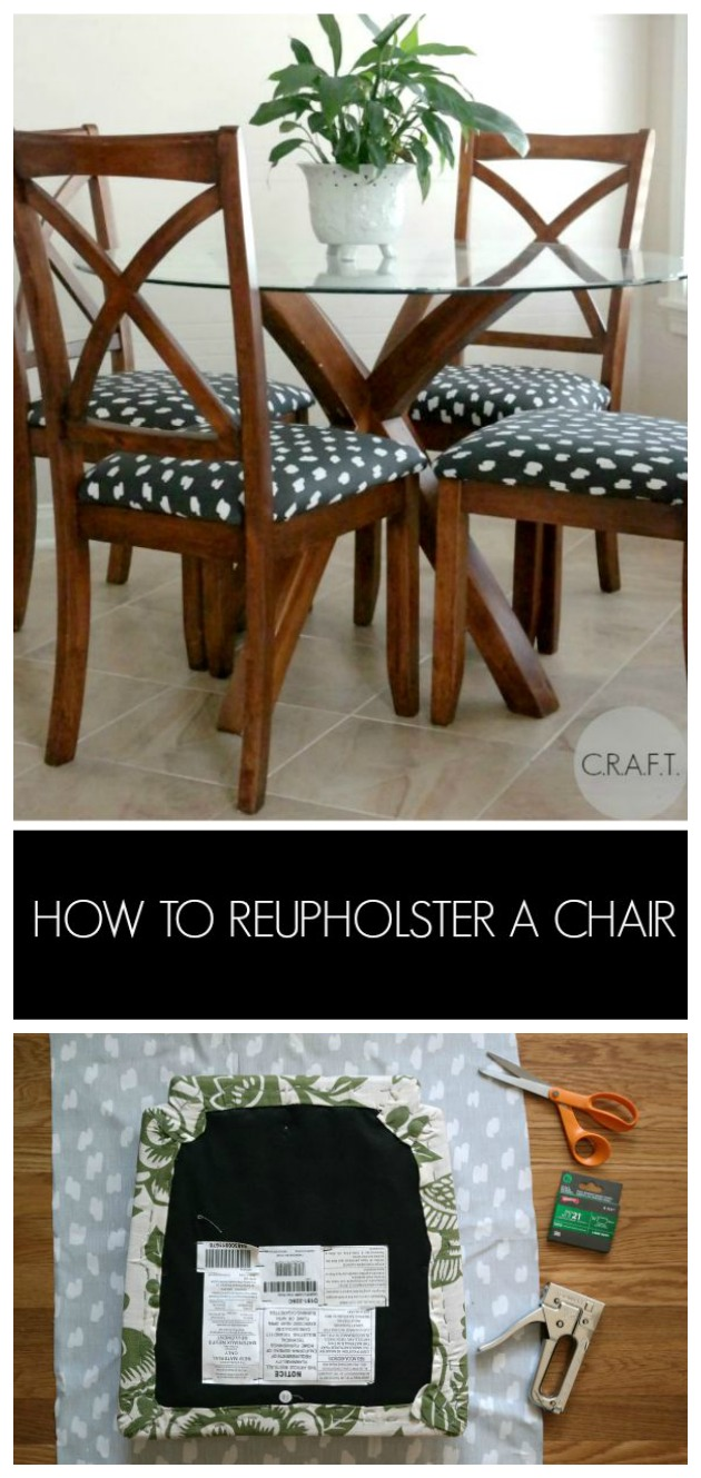 How Do You Reupholster A Kitchen Chair