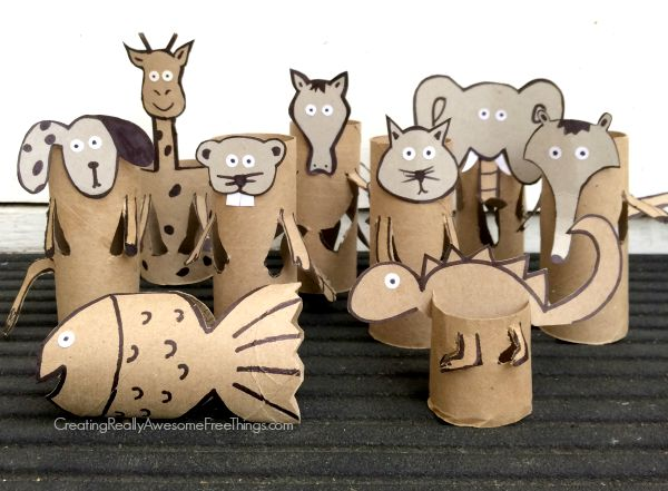 Toilet paper tube animal crafts!