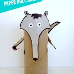 Anteater: Toilet paper roll crafts