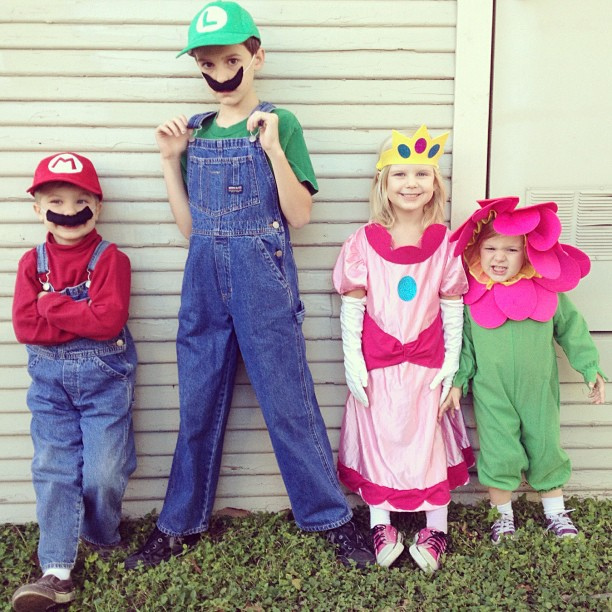 DIY Mario and Luigi group Costumes