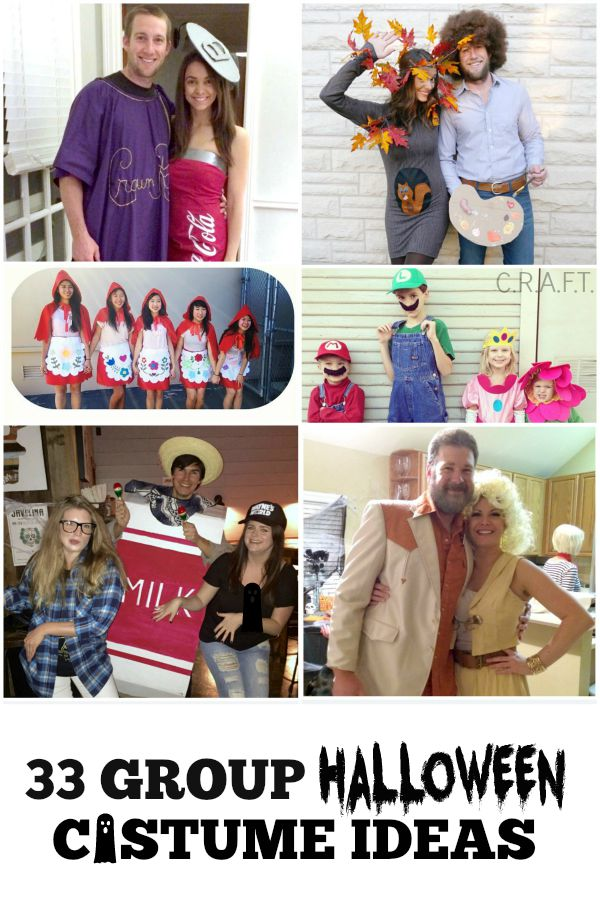 Tons of clever group Halloween costumes!