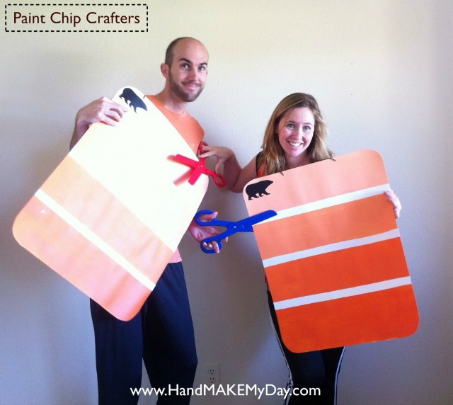 Paint chip group costumes