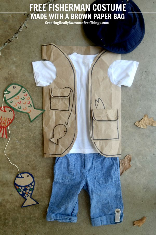 Love this idea for dress up or a super easy Halloween costume! How to make a paper bag vest!