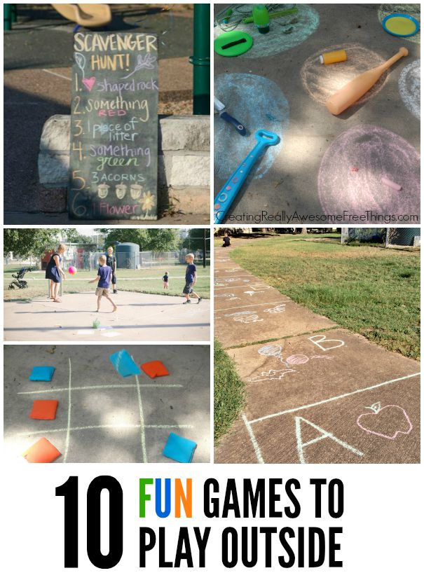 10 Fun and easy games to play outside