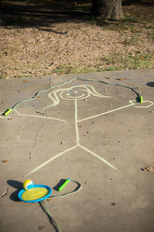 Easy chalk games