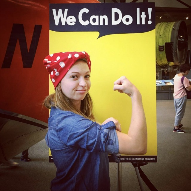 Rosie the riveter costume diy