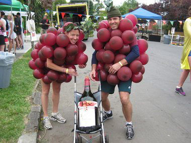 how to make a bunch of grape costume
