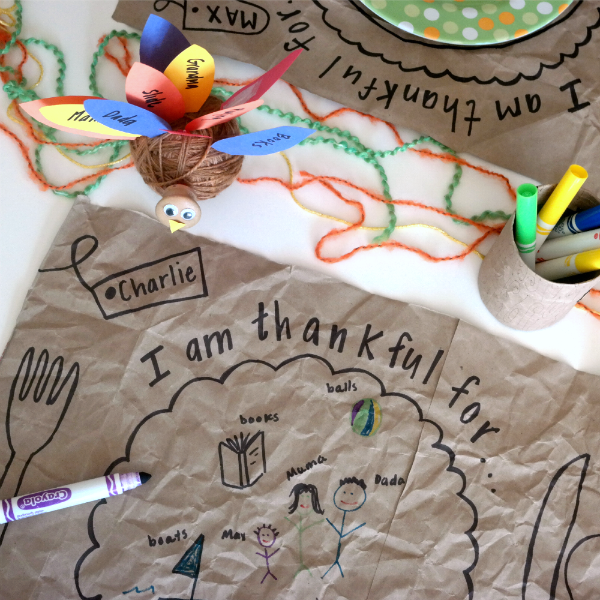 thanksgiving placemat craft kindergarten