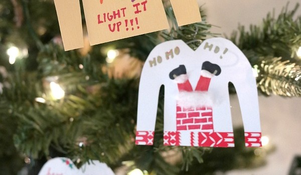Ugly christmas sweater diy ornaments