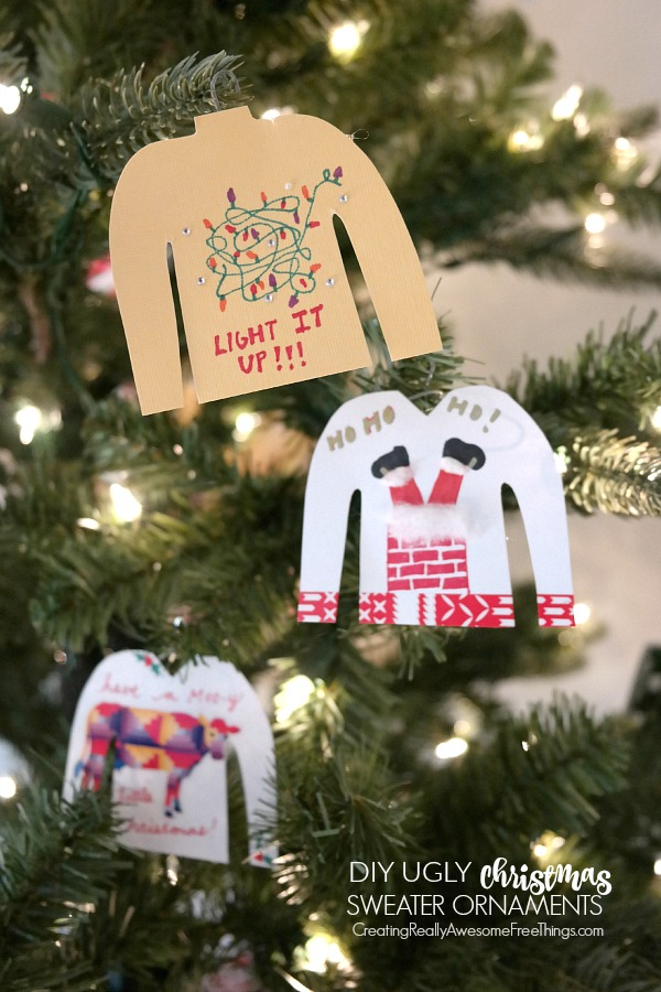 ugly christmas sweater diy ornaments - Ugly Christmas Sweater Party Decorations