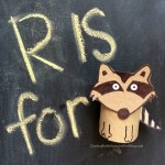 Raccoon: Toilet paper tube crafts