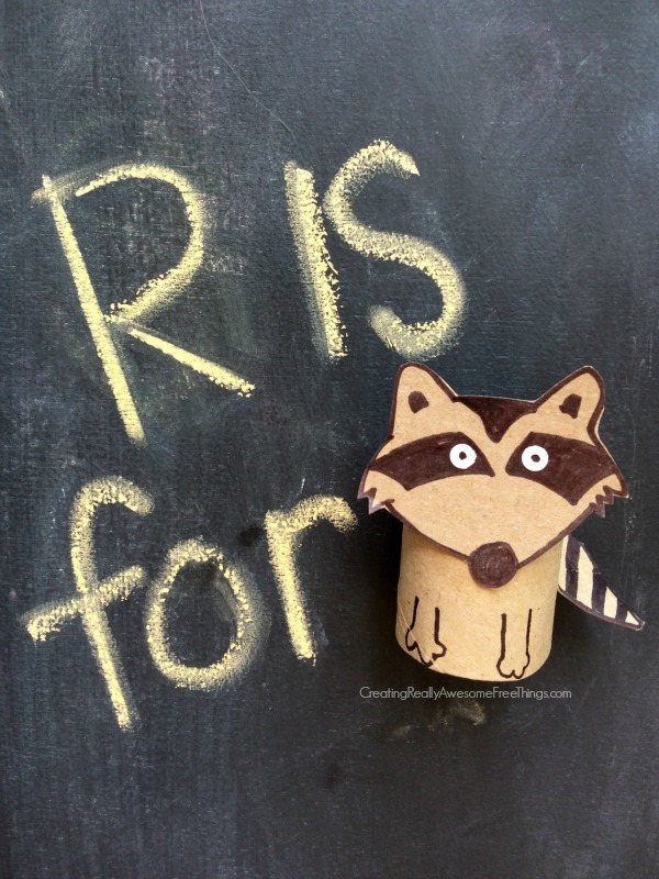 Raccoon toilet paper roll crafts