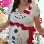 Pregnant Snowman Costume