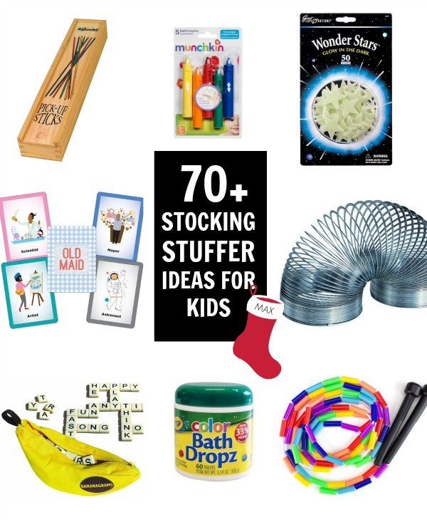 Tons of stocking stuffers for kids!