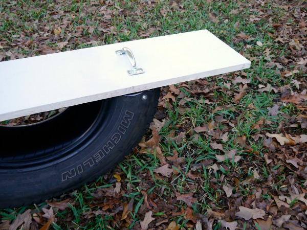 How to build a seesaw out of a tire