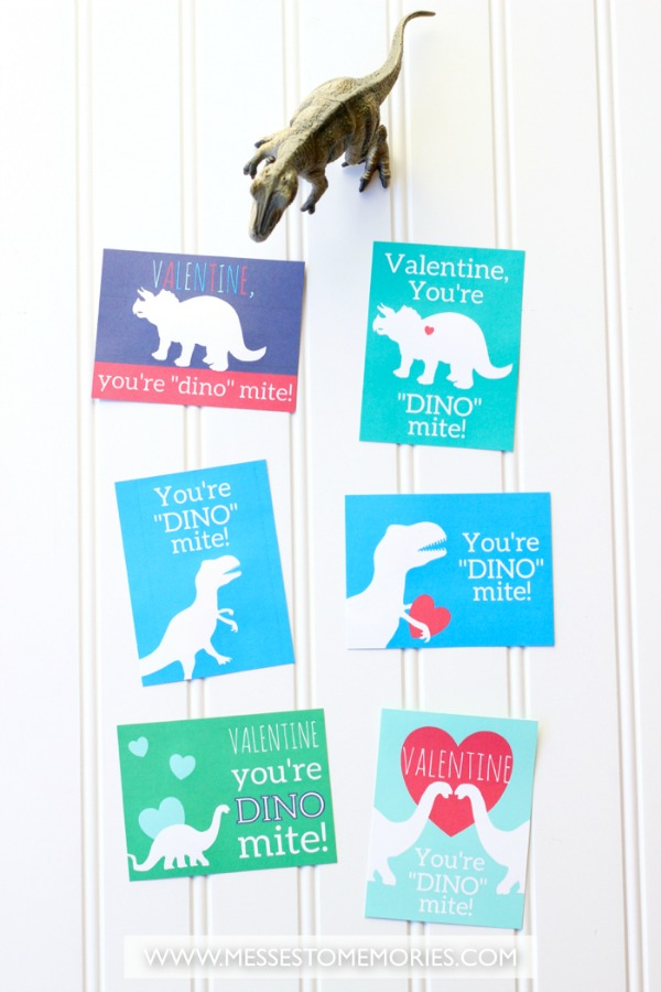 Free printable Dinosaur Valentine for kids