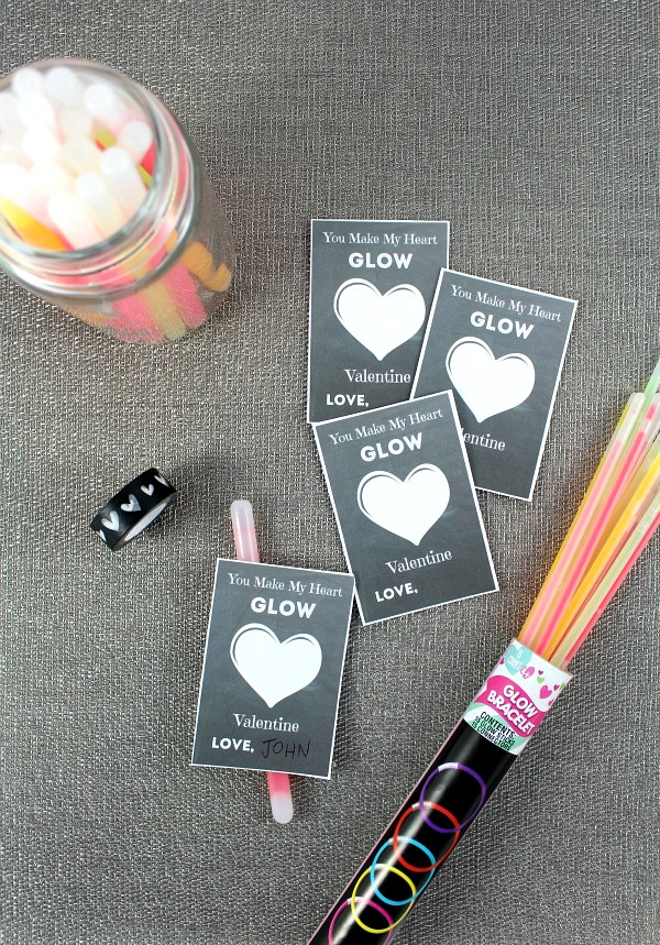 glow stick valentine for kids