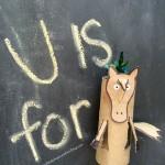 Unicorn: Toilet paper tube crafts