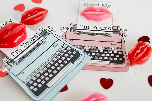 Free printable lip gloss valentine idea