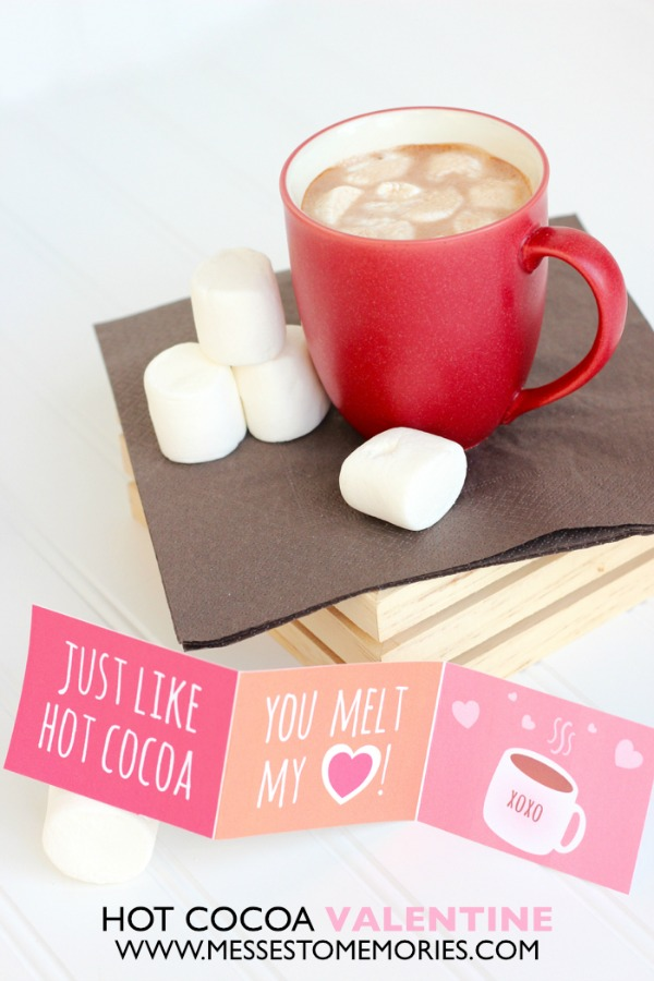 Hot chocolate valentine idea