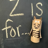 Zebra: Toilet paper tube crafts