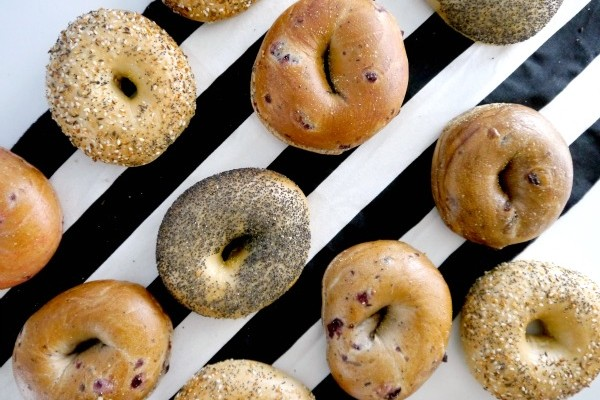 Happy teachers day with bagels