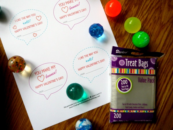 Bouncy ball valentines for kids