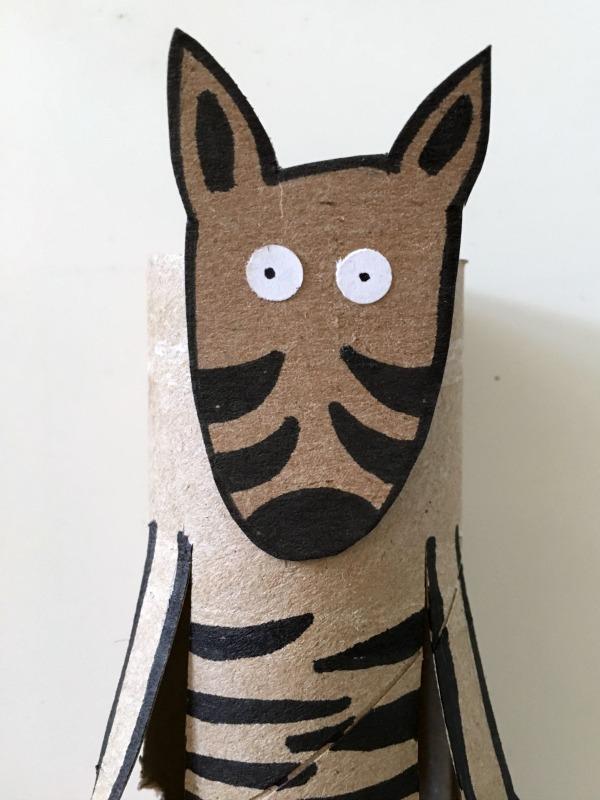 Z is for zebra toilet paper tube craft for kids