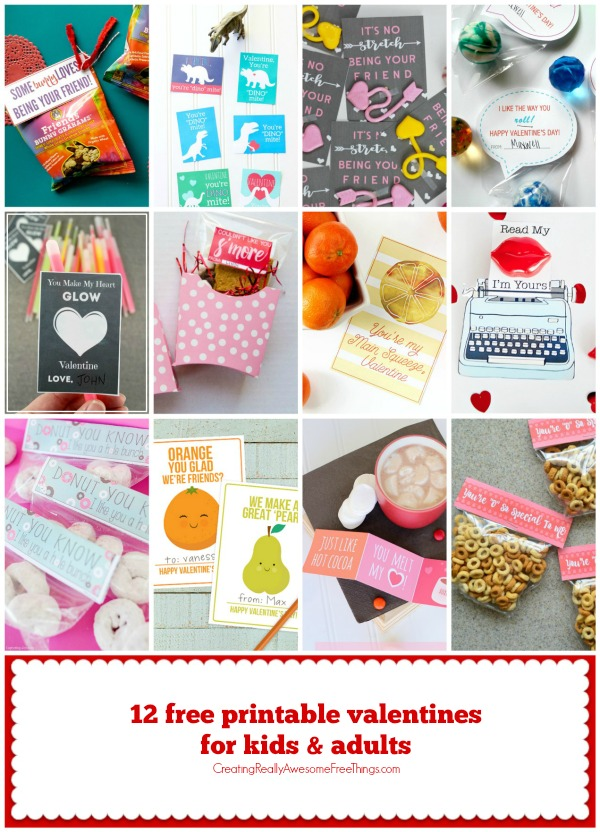 12 Free printable valentines ideas