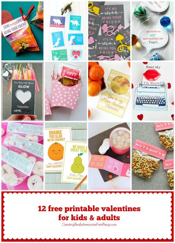 12 Free printable valentines ideas