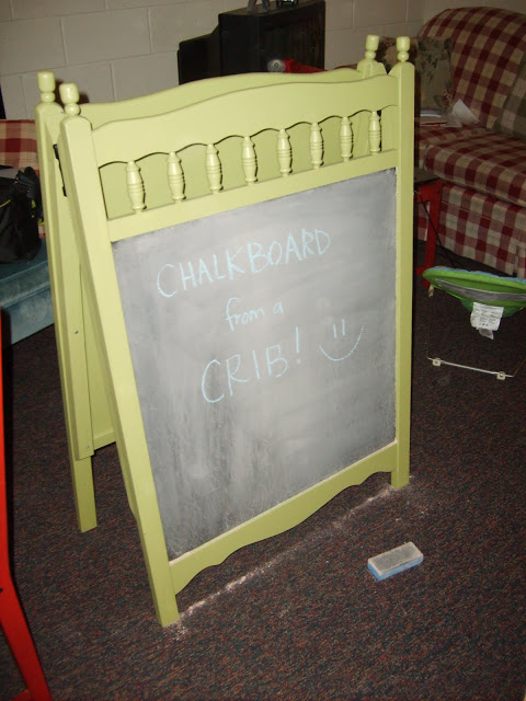 How to turn a crib into a chalkboard