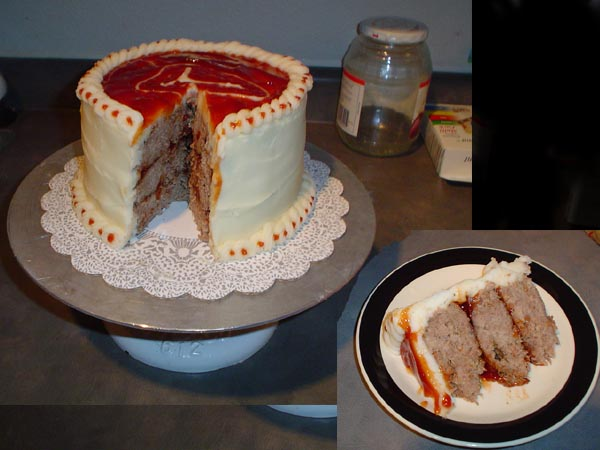 meat loaf cake april fools