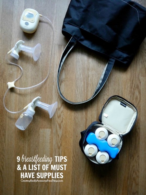 Breastfeeding tips and must have supplies