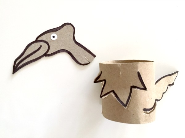 Vulture toilet paper tube craft