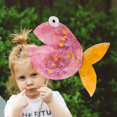 Paper plate fish
