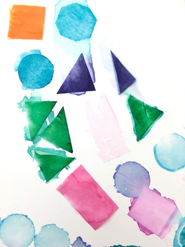 tissue paper art with kids