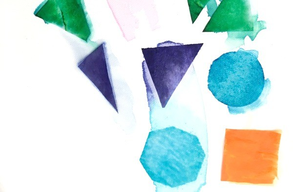 tissue paper art with kids