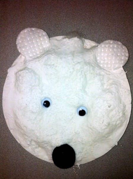 3d painted polar bear paper