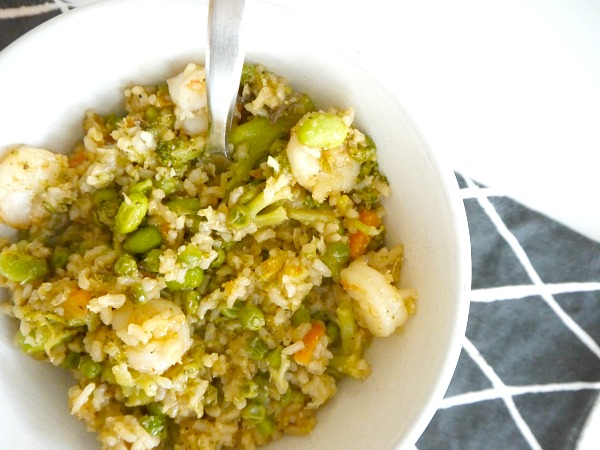 One pot meal healthy fried rice