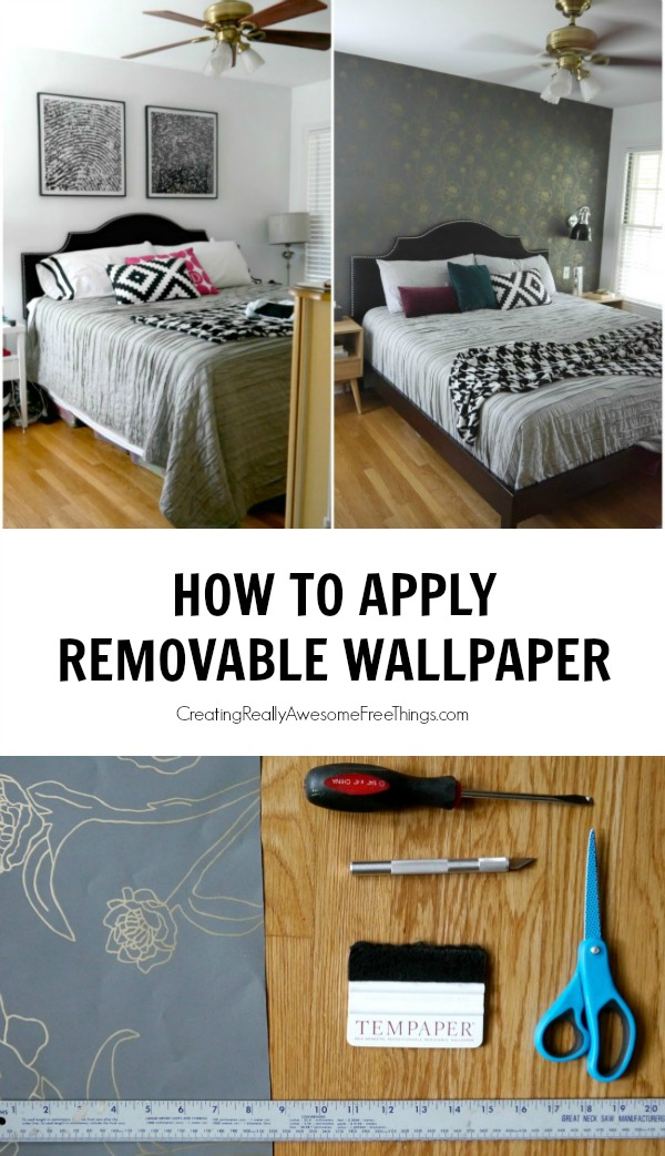 How To Apply Removable Wallpaper C R A F T
