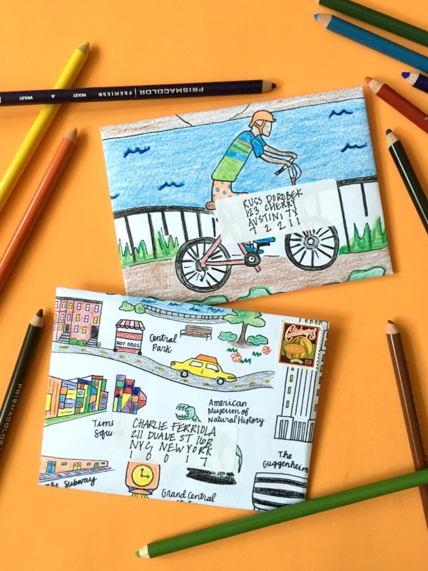 How to make an envelope out of a coloring page