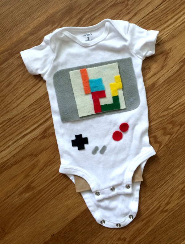 Easy DIY baby costume made with a oneisie!