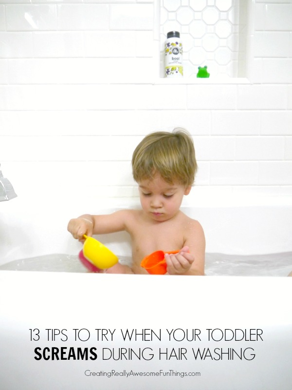 Tips for washing a toddlers hair