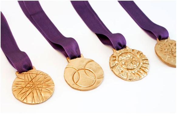 DIY gold medals