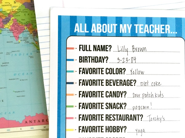 graphic about Teacher Favorite Things Printable named A Lecturers Favored Elements - C.R.A.F.T.