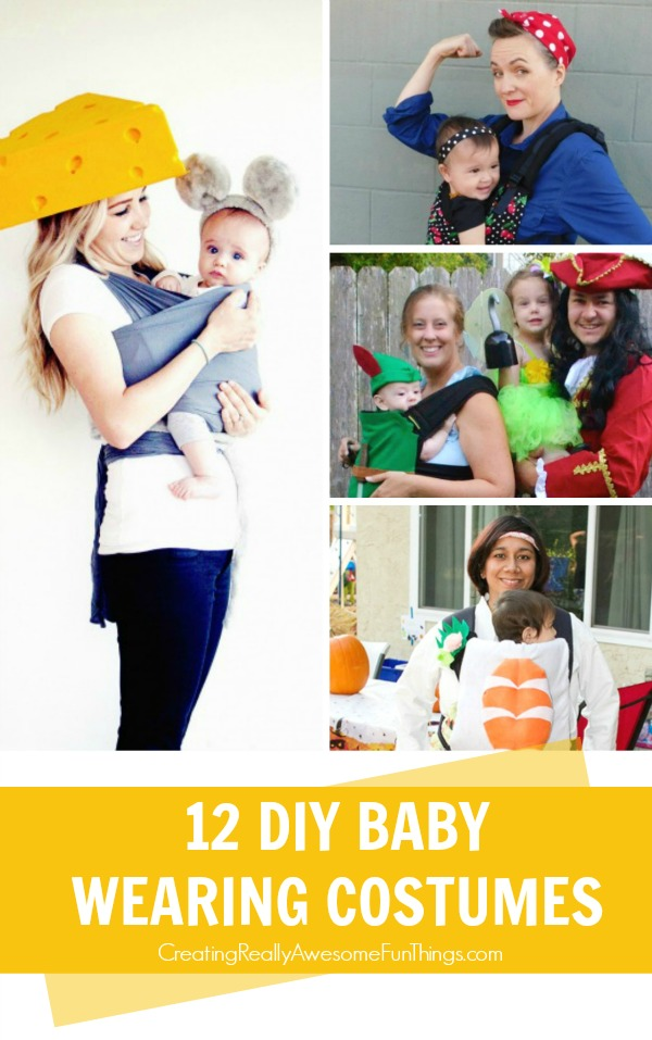 12 DIY Baby wearing costumes!