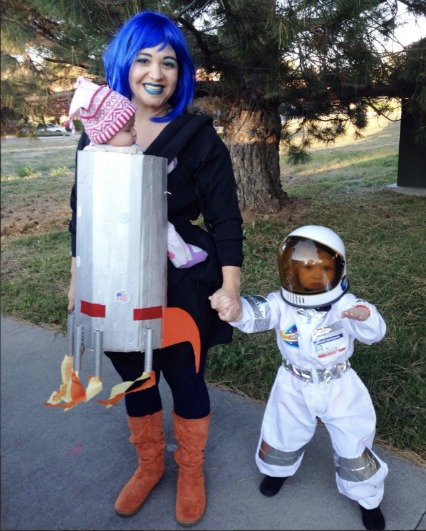 DIY Baby carrier rocket ship costume